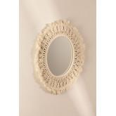 Specchio rotondo da parete in macramè (Ø48 cm) Aubin, immagine in miniatura 2