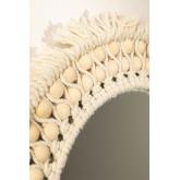 Specchio rotondo da parete in macramè (Ø50 cm) Jarn, immagine in miniatura 3