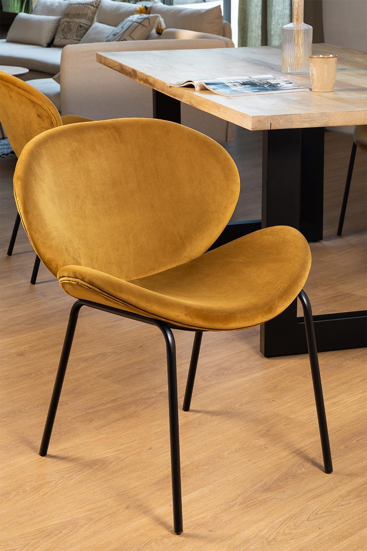Sedia da pranzo Fior Velvet, immagine della galleria 1