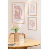 Set de 3 Láminas Decorativas Donna