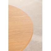 Tavolo Rotondo in Legno e Acciaio Mura  Ø80 cm, immagine in miniatura 4
