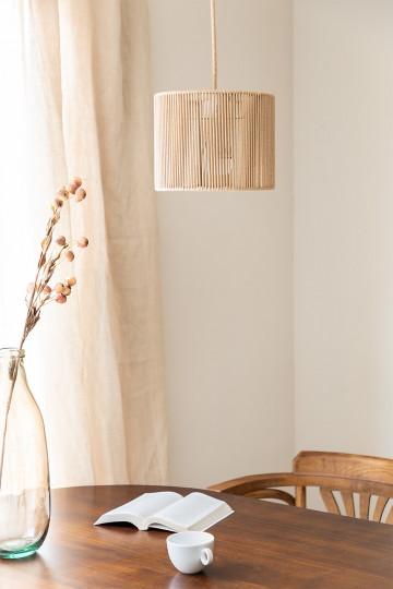 Lampada da soffitto Uillo in corda di nylon