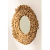 Specchio da parete rotondo in corda (Ø40 cm) Remie, immagine in miniatura 1