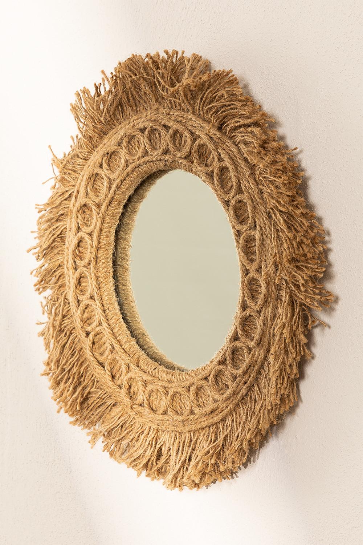 Specchio da parete rotondo in corda (Ø40 cm) Remie, immagine della galleria 1