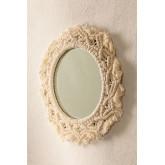 Specchio rotondo da parete in macramè (Ø29 cm) Jerom, immagine in miniatura 1