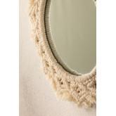 Specchio rotondo da parete in macramè (Ø29 cm) Jerom, immagine in miniatura 3