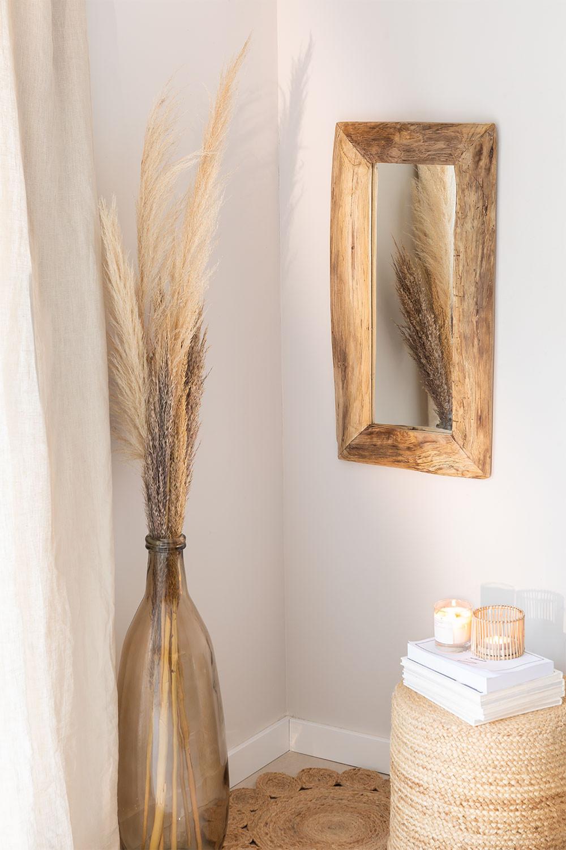 Specchio da parete in legno di teak Unax, immagine della galleria 1