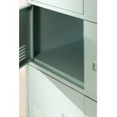 Cassettiera armadietto a 6 ante in metallo Pohpli, immagine in miniatura 5
