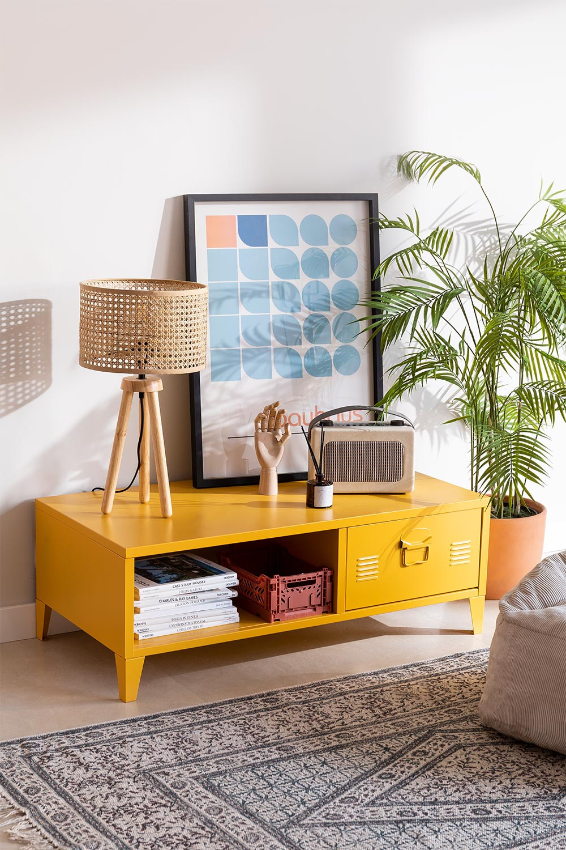 Tavolino con cassetto in Metallo Pohpli , immagine della galleria 1