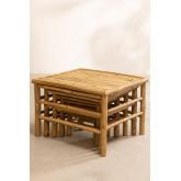 Tavolini Impilabili in bambù Jarvis, immagine in miniatura 3