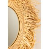 Specchio da parete rotondo in rattan (Ø80 cm) Donat, immagine in miniatura 4