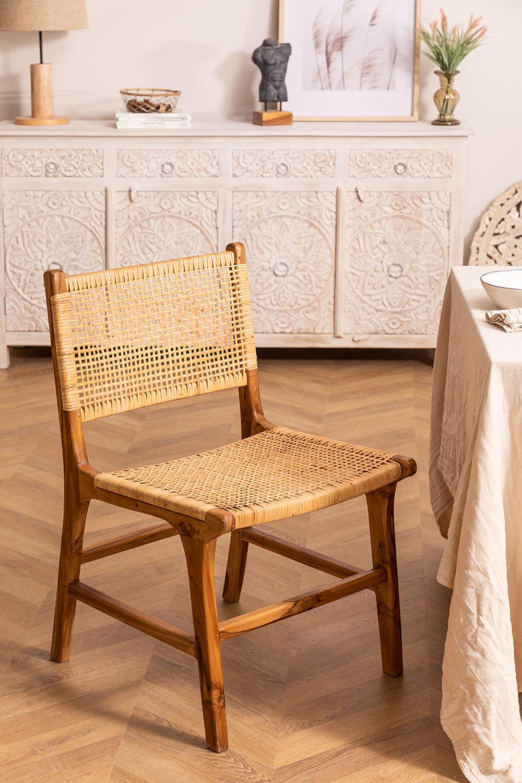 Sedia da giardino in legno di teak Catua - SKLUM
