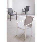 Confezione 4 sedie da esterno in alluminio Eika, immagine in miniatura 6