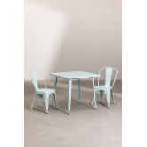 Set tavolo Lix Mate (80x80 cm) e 2 sedie da giardino Lix Mate, immagine in miniatura 2