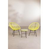 Set 2 sedie e 1 tavolo in polietilene e acciaio New Acapulco, immagine in miniatura 1