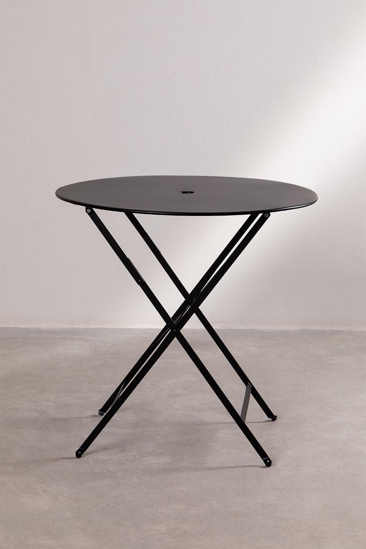 Tavolo pieghevole da esterno rotondo in acciaio Dreh - SKLUM