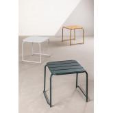 Tavolinetto quadrato per esterni in acciaio Janti, immagine in miniatura 6