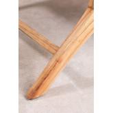 Poltrona in legno e pelle Zaid , immagine in miniatura 6