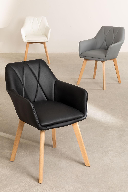 Confezione da 2 sedie da pranzo imbottite Marh Style - SKLUM