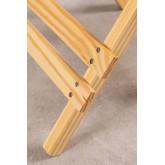 Tavolino quadrato pieghevole in legno Bhêl , immagine in miniatura 6