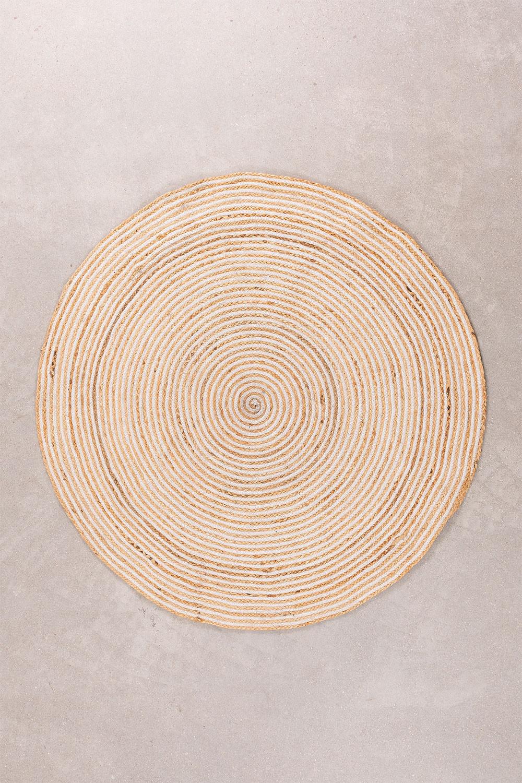 Tappeto rotondo in iuta naturale (Ø120) Crok, immagine della galleria 1
