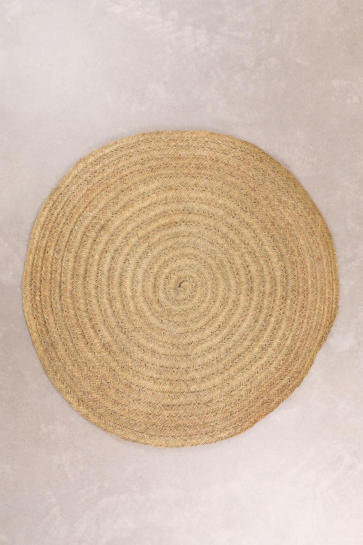 Tappeto rotondo in sparto (Ø200 cm) Pow, immagine della galleria 1