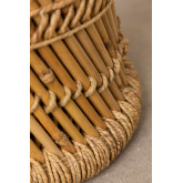 Sgabello basso in bambù Thëss, immagine in miniatura 5