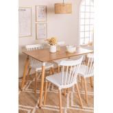 Tavolo da pranzo in legno (120x80 cm) Royal Natural Design, immagine in miniatura 1