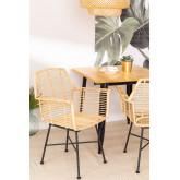 Sedia da pranzo in rattan naturale Mimbar Design, immagine in miniatura 1
