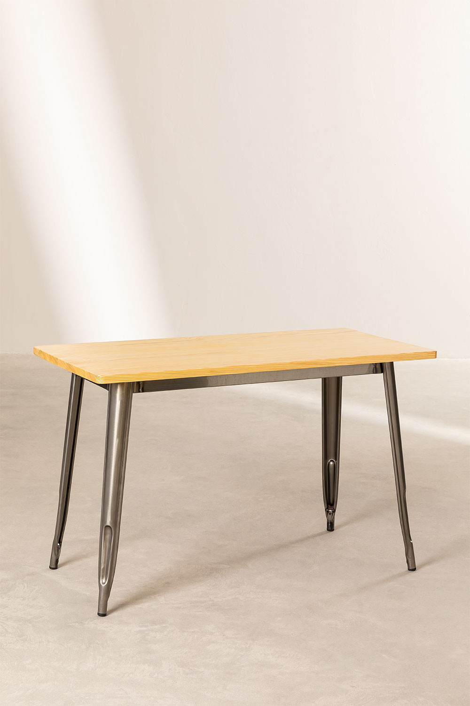 Tavolo LIX Legno Piallato (120x60), immagine della galleria 1