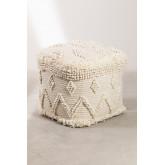 Puff quadrato in lana Drutt, immagine in miniatura 1