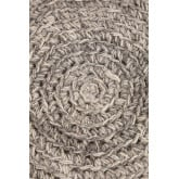Sgabello basso rotondo in lana e legno Rixar , immagine in miniatura 4