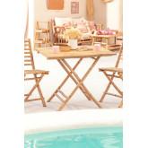 Tavolo pieghevole in bambù Allen, immagine in miniatura 1