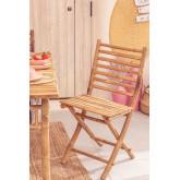 Sedia pieghevole in bambù Marilin, immagine in miniatura 1