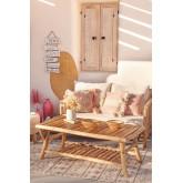 Tavolino da giardino in legno di teak Narel, immagine in miniatura 1
