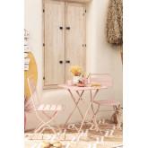 Set tavolo pieghevole Janti (60x60 cm) e 2 sedie da giardino pieghevoli Janti, immagine in miniatura 1