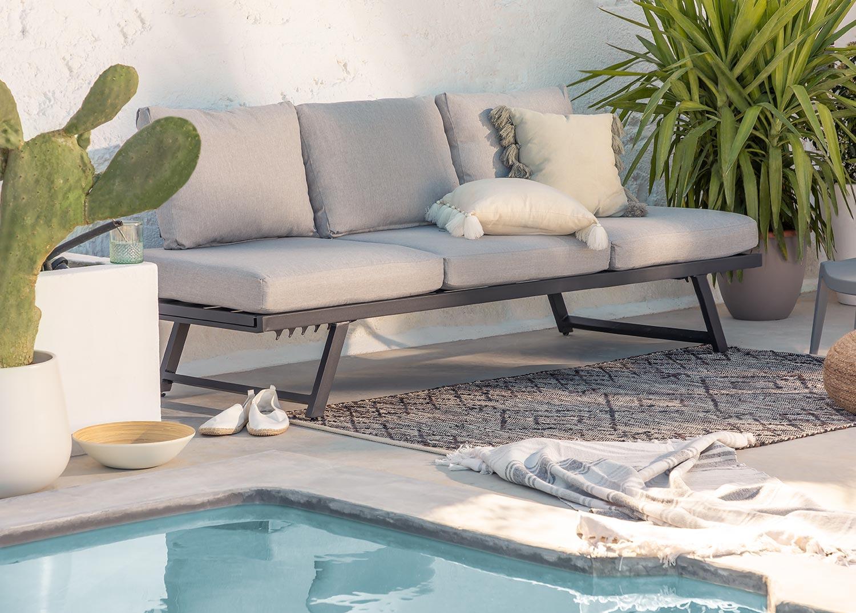 Divano per esterni reclinabile Libanc, immagine della galleria 1