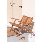 Poltrona da giardino con braccioli in legno Caima, immagine in miniatura 1