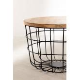 Tavolino rotondo in legno riciclato e acciaio (Ø62 cm) Ket, immagine in miniatura 3