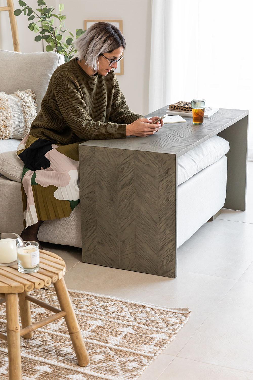 Tavolo da divano in legno di olmo Belah, immagine della galleria 1