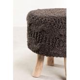 Sgabello basso rotondo in lana e legno Rixar , immagine in miniatura 2