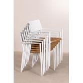 Pack 2 sedie da giardino in alluminio Amadeu, immagine in miniatura 4