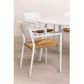 Pack 2 sedie da giardino in alluminio Amadeu, immagine in miniatura 3
