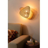 Ruly Rattan Wall Sconce, immagine in miniatura 1