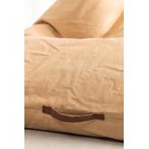 Puff con schienale in cotone Jebi, immagine in miniatura 6