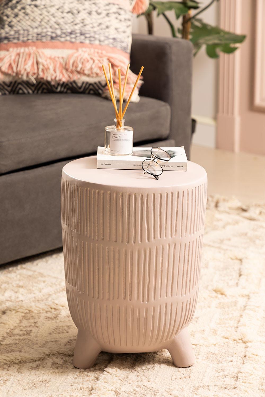 Tavolino rotondo in ceramica Greko, immagine della galleria 1
