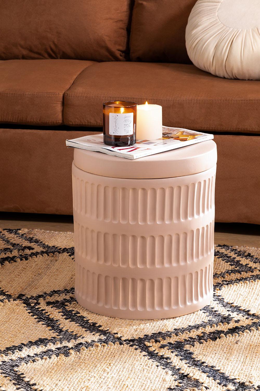Tavolino rotondo in ceramica Blaci, immagine della galleria 1