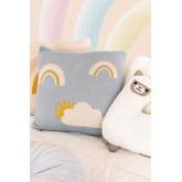 Cuscino quadrato in cotone (35x35 cm) Ellie Kids, immagine in miniatura 1