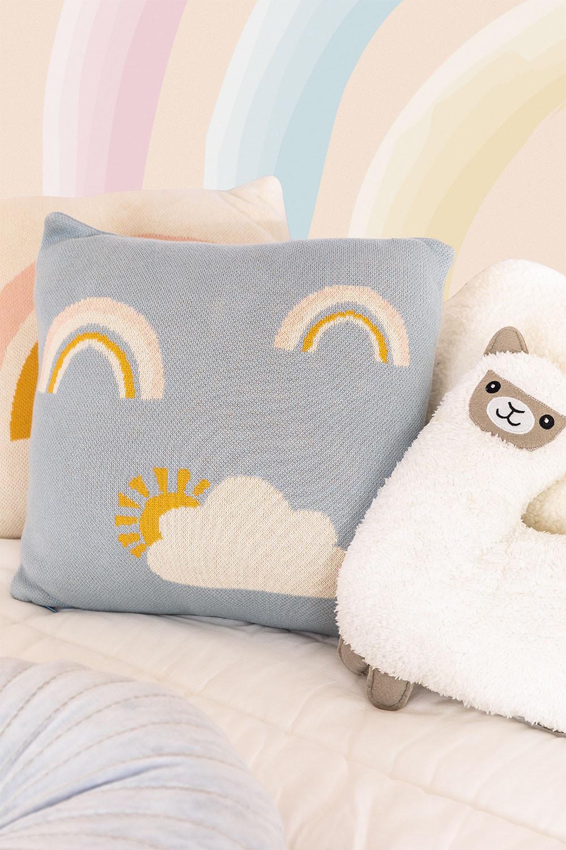 Cuscino quadrato in cotone (35x35 cm) Ellie Kids, immagine della galleria 1