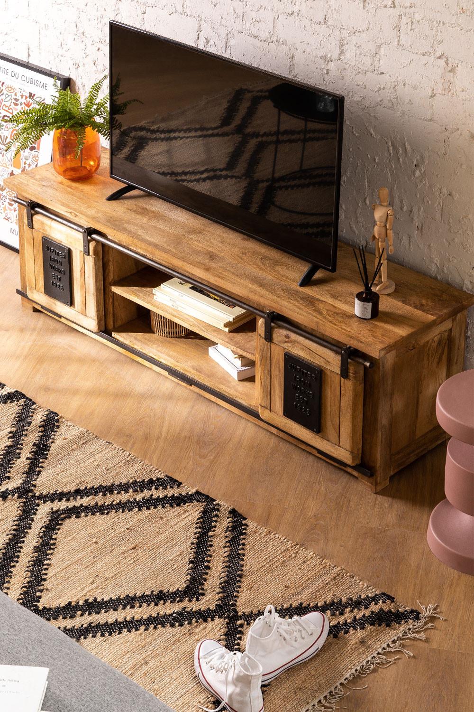 Mobile TV in legno Mango Uain, immagine della galleria 1